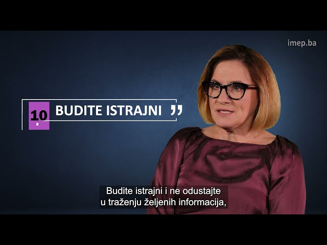 """TUTORIJAL: """"Pravo na pristup informacijama u Bosni i Hercegovini - korak po korak"""" - Leila Bičakčić"""