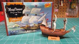 Lindberg Mayflower Thanksgiving Model Ship Kit Build Review HL215/1...