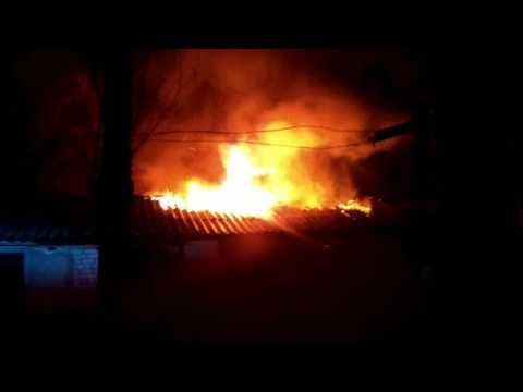 Пожар на улице Дорожной