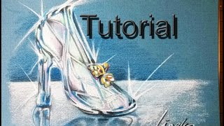 How to draw a crystal Shoe - Cinderella