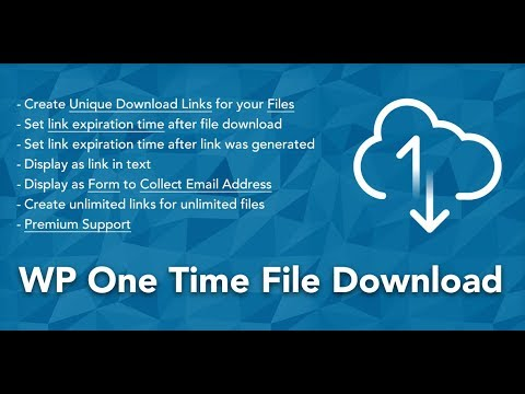 """4. How To Create Unique Download Link And Send It Via Email With """"WP One Time File Download"""" Plugin"""