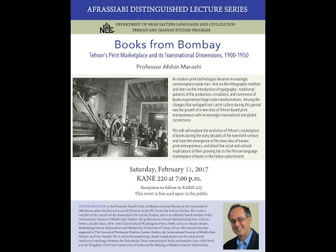 Books from Bombay: Tehran's Print Marketplace and its Transnational Dimensions, 1900-1950