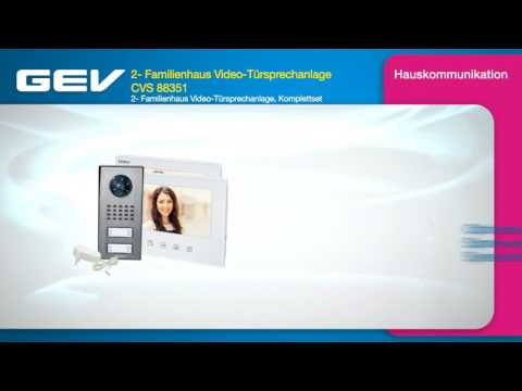 GEV 2- Familienhaus Video-Türsprechanlage CVS 88351