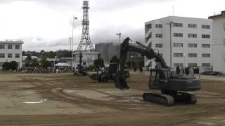 施設器材との共演(音楽隊・太鼓) 春日井駐屯地  2013年4月7日