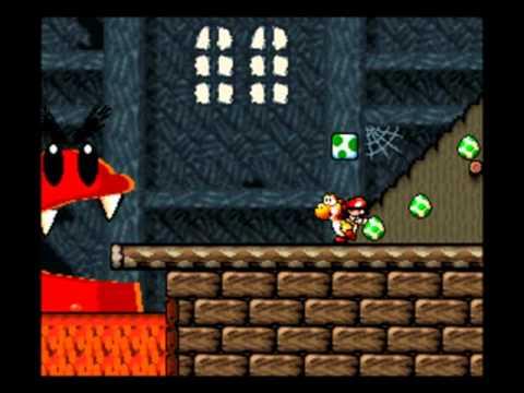05 Yoshi's Island (Super Mario World 2) [Part 5], 1-4: Burt The Bashful's Fort