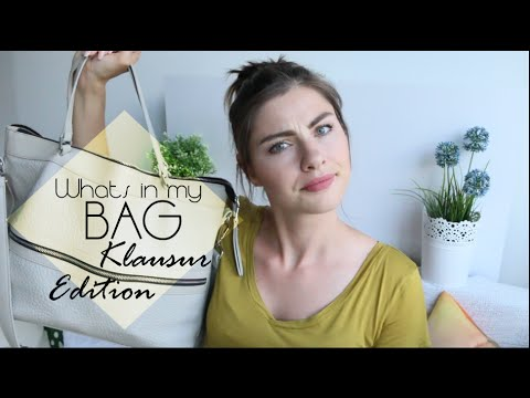 Whats in my bag - KlausurEdition - Universität - BWL