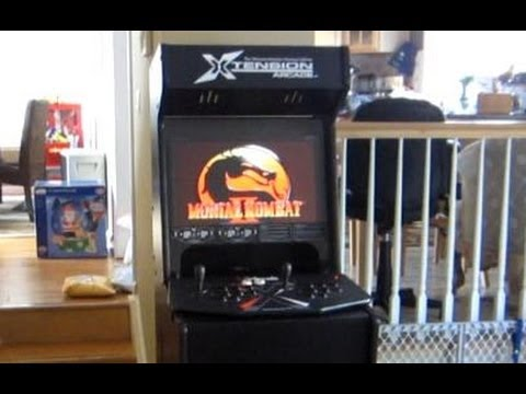 Xtension Arcade Cabinet for X-Arcade Dual USB Joystick - YouTube