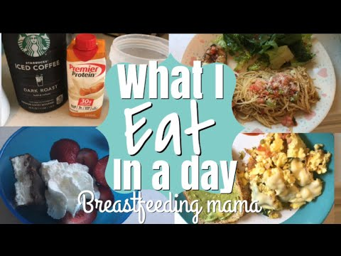 WHAT I EAT IN A DAY WHILE BREASTFEEDING // Weight loss? Milk supply?