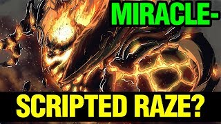 SCRIPTED RAZES? - MIRACLE- SHADOW FIEND - Dota 2