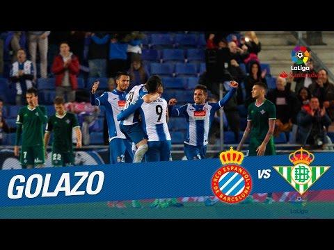 Golazo de Reyes (2-1) RCD Espanyol vs Real Betis