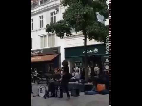 The Basement Effect- Street Artist Playing Violin- Liverpool City Centre
