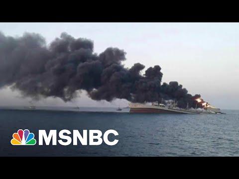 Iran's Largest Warship Sinks In Blaze In Gulf Of Oman