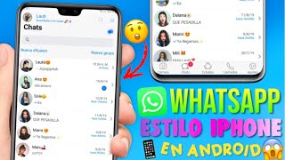 Nuevo WhatsApp Estilo Iphone En Android 2019