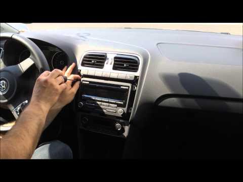 VW Polo V - Radio und Navi ausbauen / remove RCD310 und co.