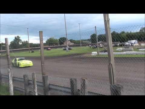 Algona Raceway Austin Luellen Hobby Stock heat 7-1-14