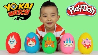 Hi guys, today we are opening these five Yo-Kai Watch Play-doh surp...