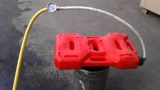 Гидроиспытания канистры экстрим 10 литров