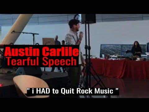 "Austin Carlile Tearful Speech While Using a Cane ""I HAD TO QUIT ROCK MUSIC"""