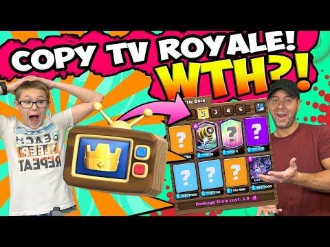 MY SON USES TV ROYALE DECKS TO BEAT ME! CLASH ROYALE