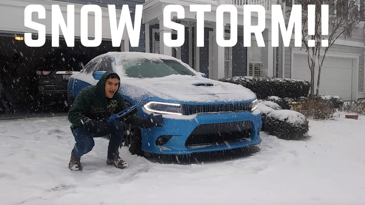 dodge charger scat pack in snow Dodge Charger ScatPack VS Snow Storm!! - YouTube