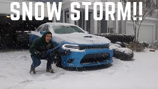Dodge Charger ScatPack VS Snow Storm!!
