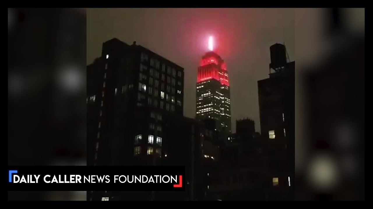 Empire state Building Lit For Emergency Responders Fighting COVID-19