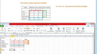Урок 1.Поиск решения, оптимизация, оптимальный план производства