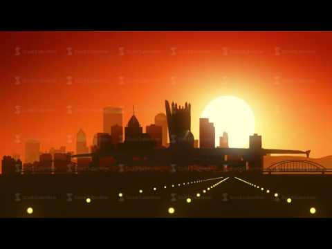 Pittsburgh Pennsylvania USA America Skyline Sunrise Landing