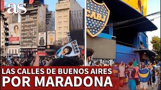 MUERE MARADONA | Miles de aficionados inundan las calles de Buenos Aires | Diario AS