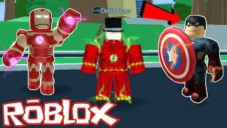 *New* Insane Superhero JUSTICE LEAGUE in ROBLOX! *Get Superpowers!* (Injustice Online Adventure)