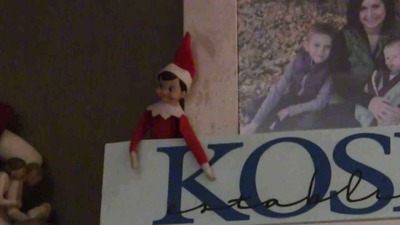 Elf On The Shelf Caught Moving Youtube