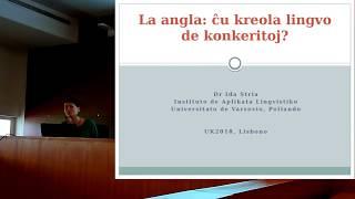 [Prelego] La angla: ĉu kreola lingvo de konkeritoj? — Ida Stria