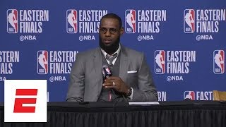 LeBron James on Game 1 loss to Celtics: 'I have zero level of concern' | ESPN