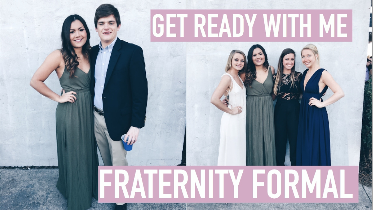 Grwm Going To A Fraternitys Formal Announcement Youtube