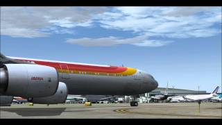 [FS2004 HD] Iberia Airlines A340-600 departing Chicago-O