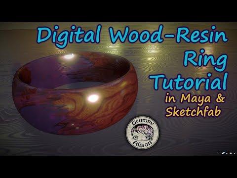 Making a Wood-Resin Ring in Maya & Sketchfab