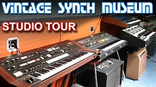 VINTAGE SYNTHESIZER MUSEUM - Synth Studio Tour & Synthesizer Music Studio