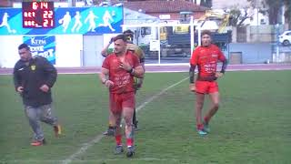 Rugby Espoirs RCT Toulon vs Carcassonne Bagarre Générale en Fin de Match Live TV Sports 2018