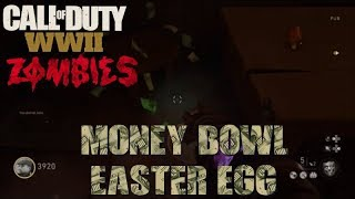 How to do the Money Bowl Easter Egg Tutorial in WW2 Zombies (Call of Duty WWII Zombies)