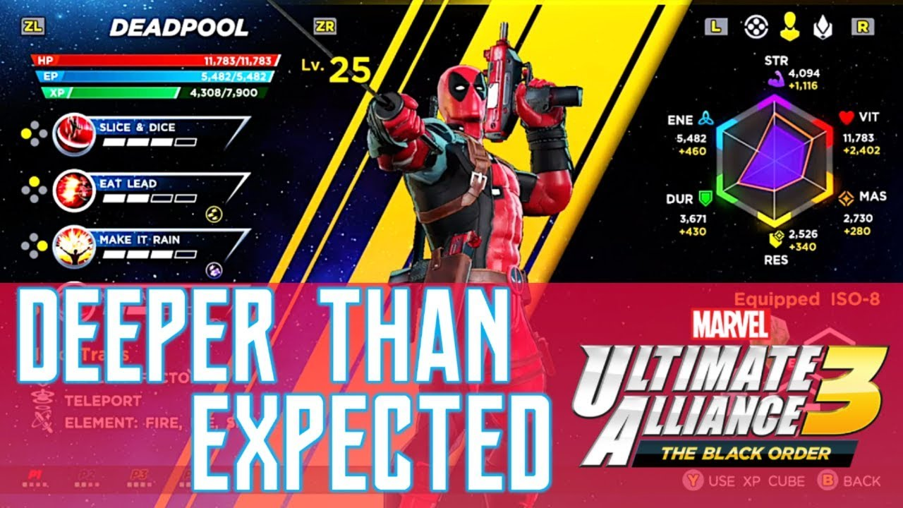 Marvel Ultimate Alliance 3 - Deep RPG Elements, Stats, Customization & New  E3 Gameplay!