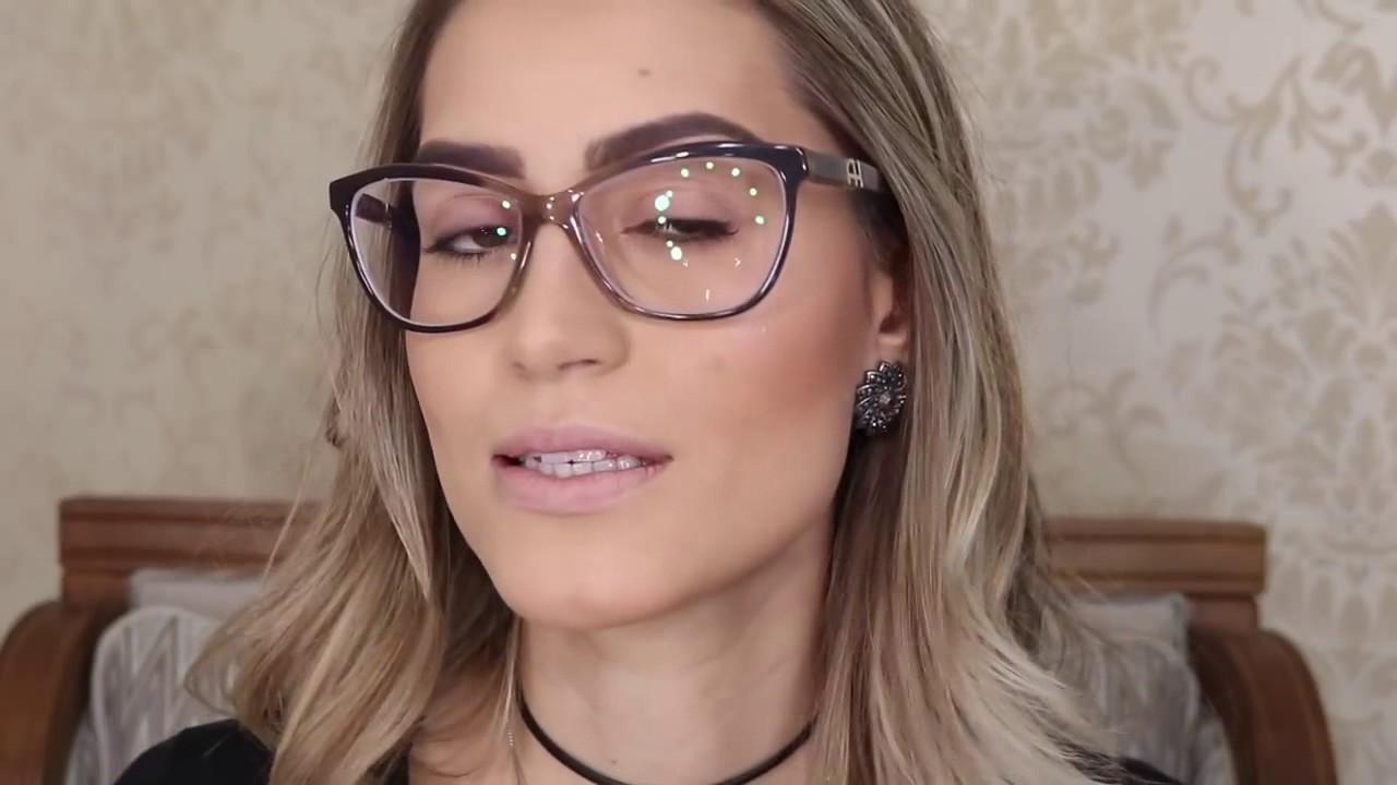 005adbff795a5 Maquiagem para pessoas com óculos de grau - YouTube