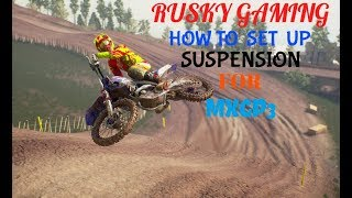 MXGP3 HOW TO SET UP SUSPENSION