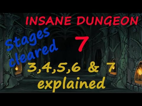 Castle Clash New INSANE DUNGEON 7 Stage : 3,4,5,6 and 7 Cleared + Explained