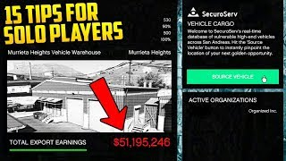 "15 TIPS FOR PLAYING ""LONE WOLF"" STYLE IN GTA ONLINE! How to Make the Most Amount of Money!"
