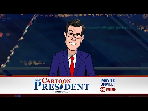 Stephen Colbert Can't Promote 'Our Cartoon President'
