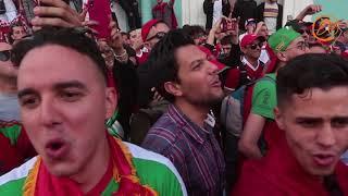 Болельщики Марокко, Ирана и России поспорили на Невском, кто больше рад за нашу сборную