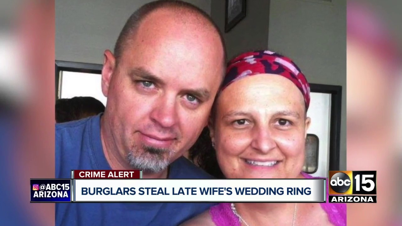 Man offering reward for late wife\'s stolen wedding rings - YouTube