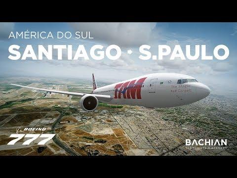 Prepar3Dv4 - B777-200 / Santiago → São Paulo