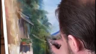 Distance online oil painting learning Bob Ross_Обучение а-ля Боб Росс