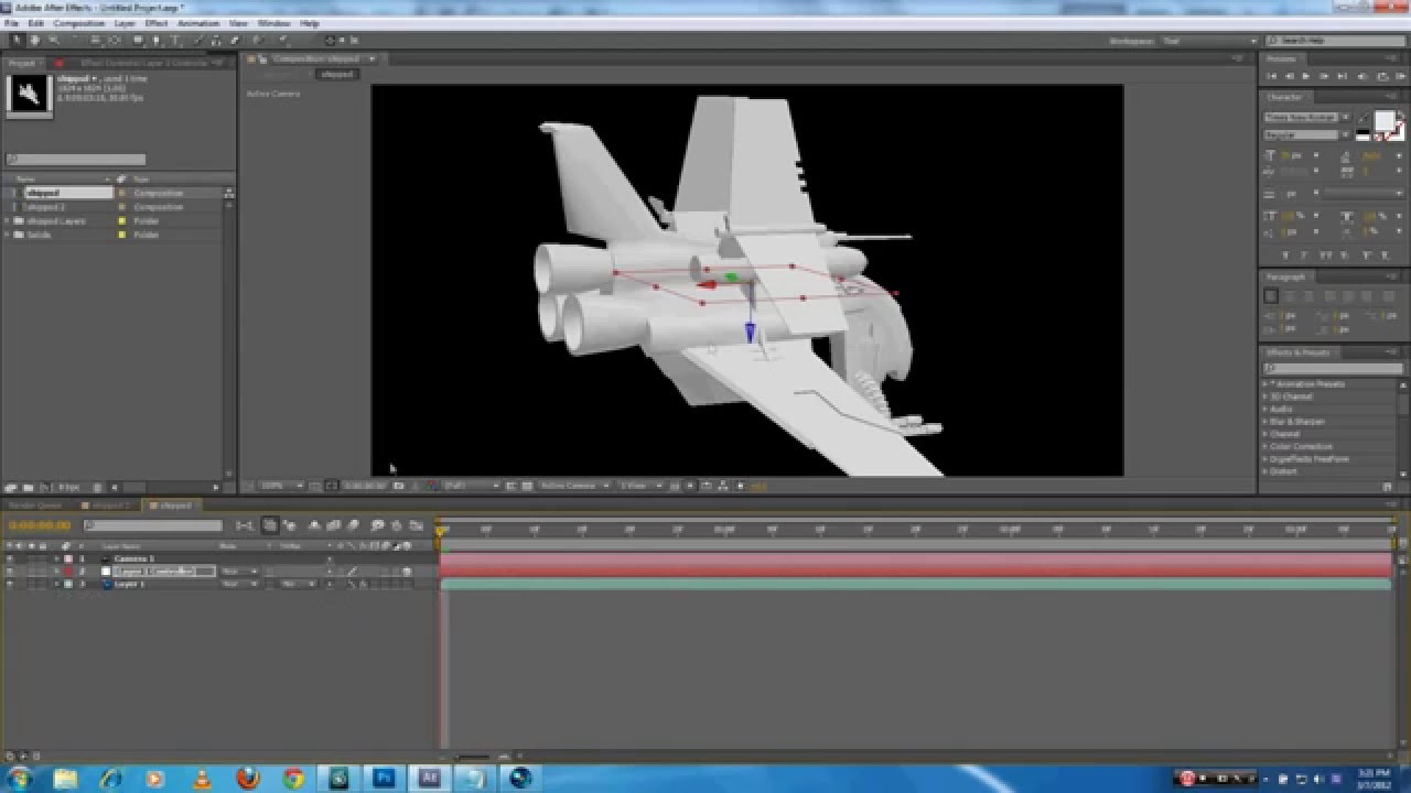 How to import 3ds max model in after youtube for Habitacion 3d after effects